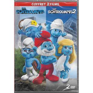 DVD FILM Coffret 2 Films [ DVD ] : Les Schtroumpfs + Les Sc