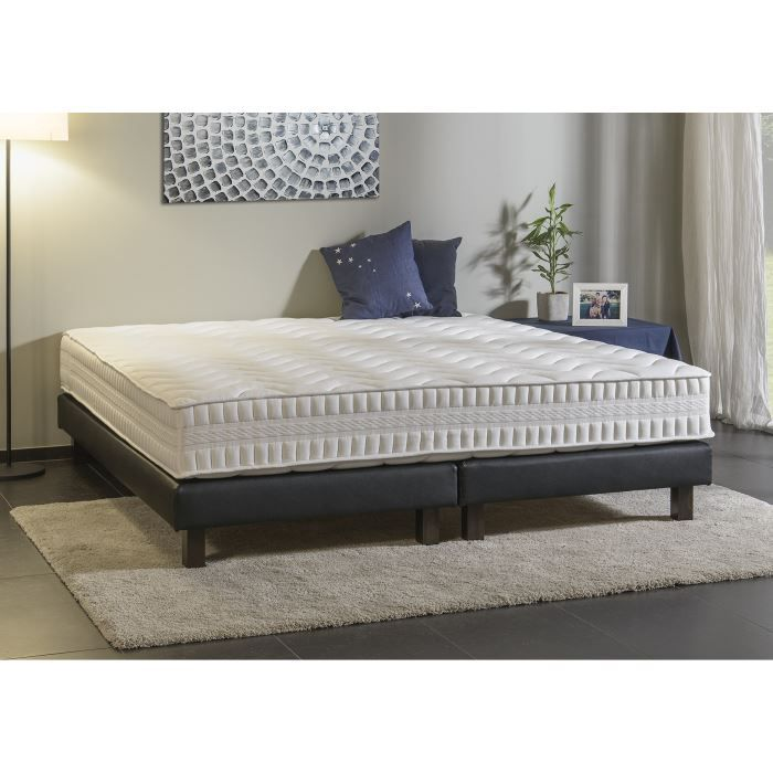 ensemble matelas sommier cristal 180x200 cm 18 cm. Black Bedroom Furniture Sets. Home Design Ideas