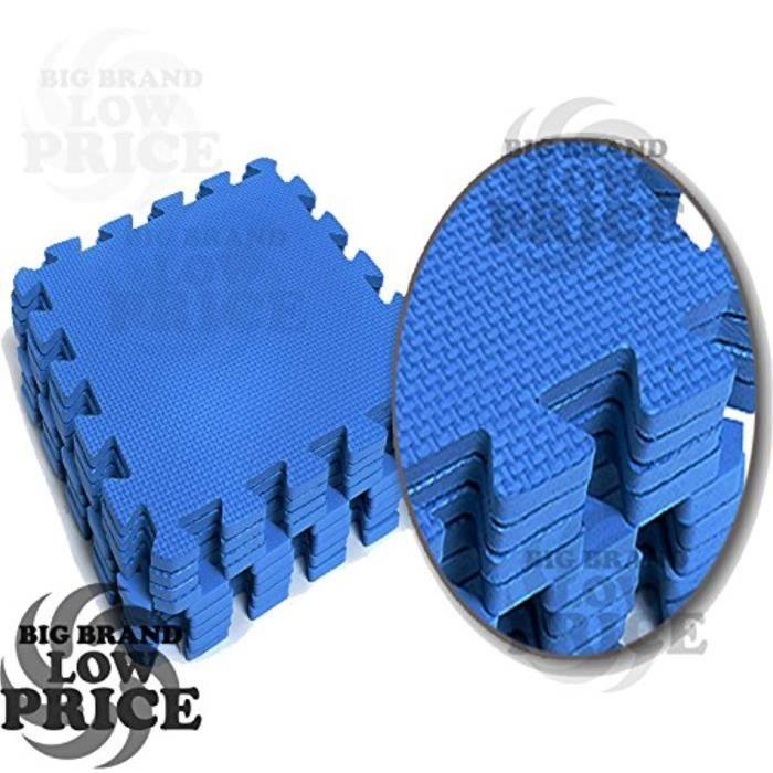 Poupon DDE40 10pcs Bleu mousse souple Interlocking EVA Mat 10m². FT Intérieur Extérieur sol Tapis de sol Gym Aire de jeux Exercice 3