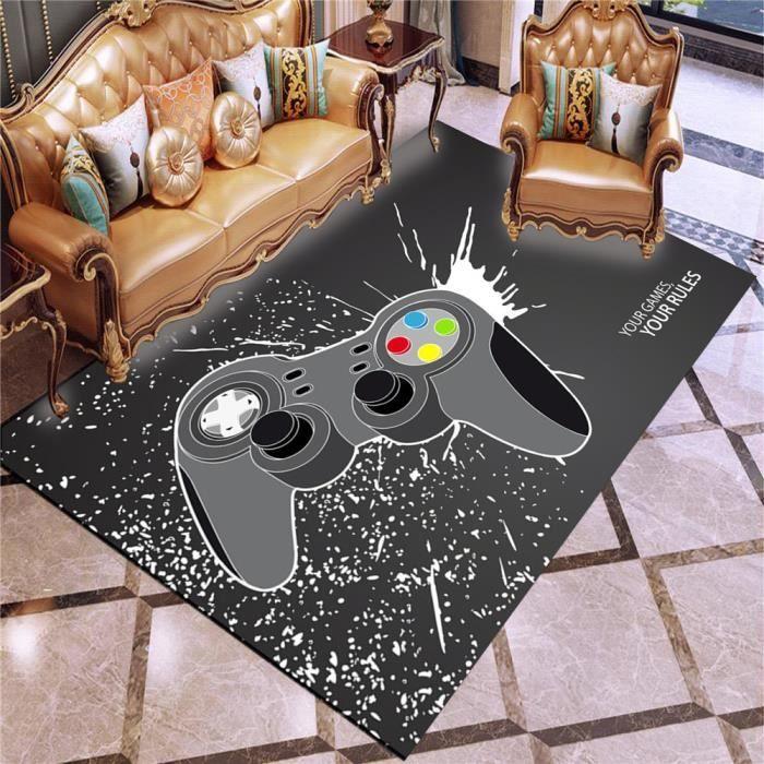 Gamepad Tapis de sol 80x120cm, Game Console tapis de sol tapis de jeu,tapis de jeux vidéo
