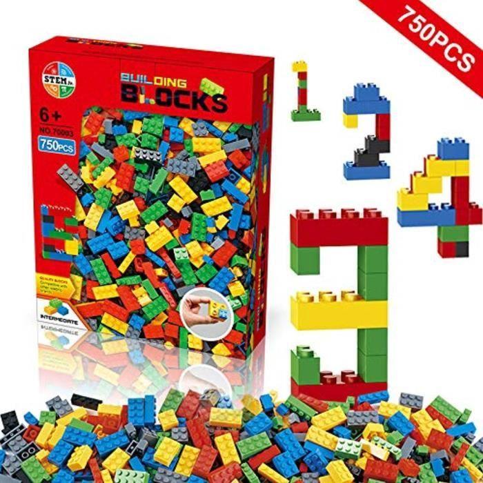 Jeu D'Assemblage DH4XY blocs de construction 750 pièces ensemble, briques de construction créatif bricolage ensemble de jouets de ve