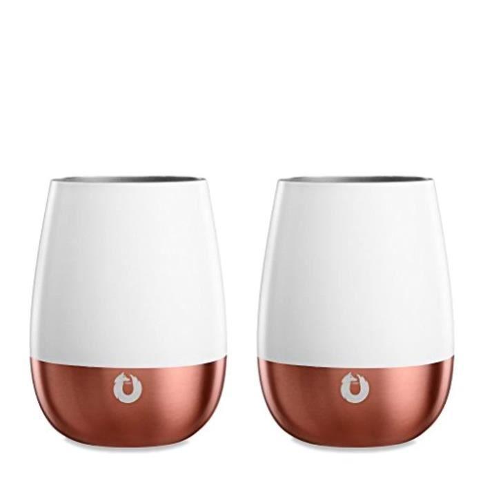 Shaker - Agitateur - Set Cocktail BOY34 Verres à vin isolés en acier inoxydable de la collection ElegancePinot NoirBlanc - Or