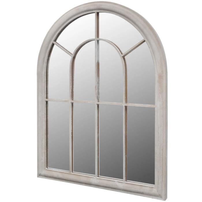 Miroir de jardin d'arche rustique 69x89 cm Intérieur-extérieur#7993