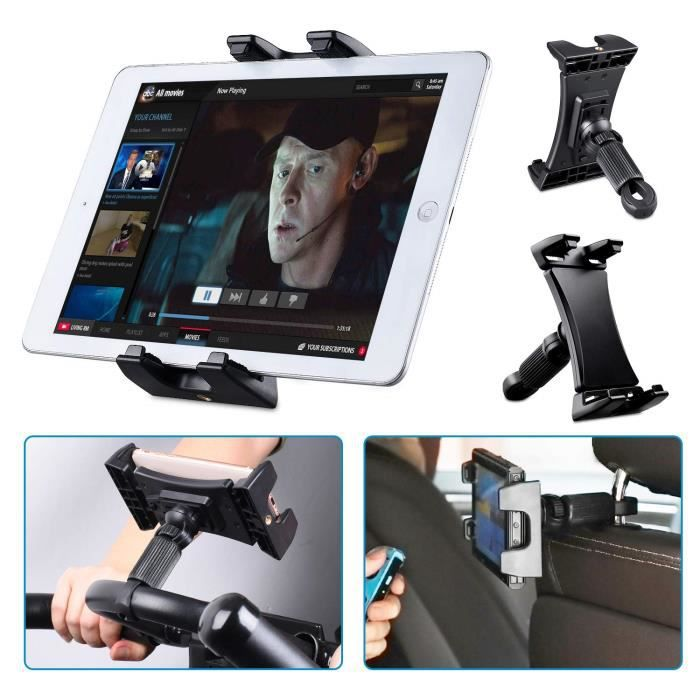 Support tablette vélo Tendak Spinning, voiture portable appui tête, tapis course, gymnase guidon, microphone support réglable à 3
