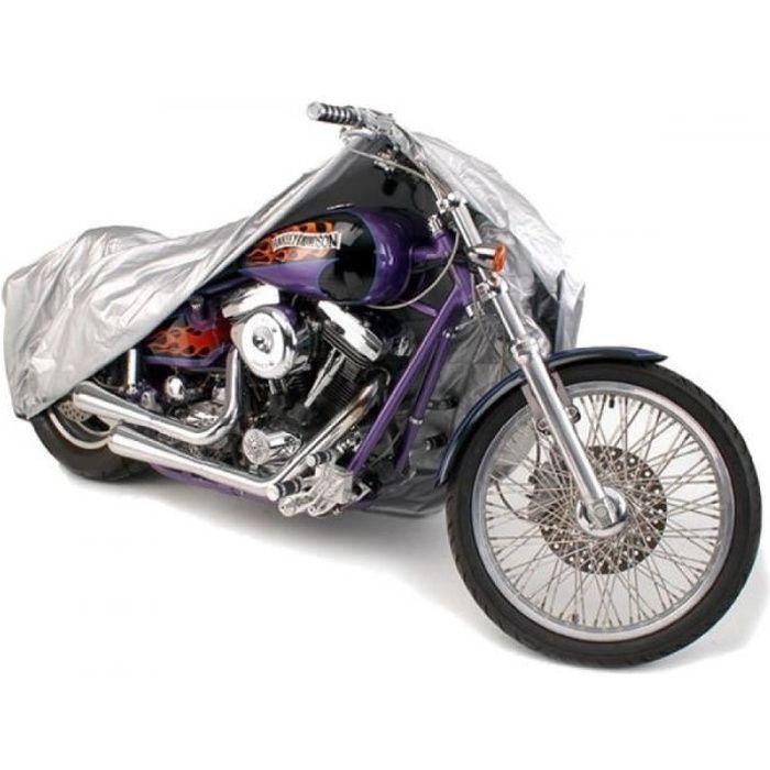 Housse Bâche Petite Moto Couvre Vélo VTT Scooter 205x125cm Gris Imperméable