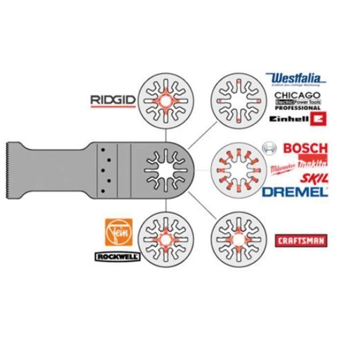 10x Shix Lames de scie pour Fein Dewalt Stanley Black & Decker Oscillant Shultitool Sh16918