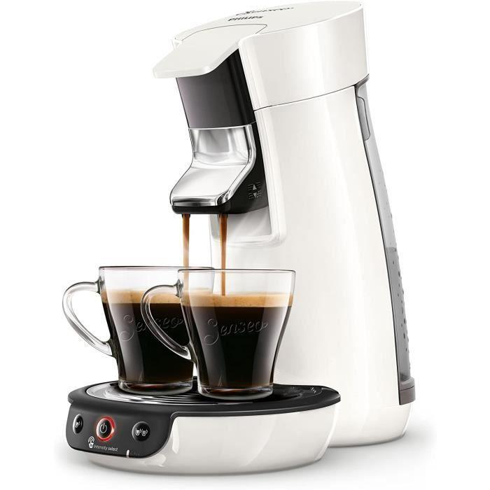 Senseo Viva Cafe HD6563-60 Machine à café à dosettes, Crema Plus, Réglage de la force du café Sans