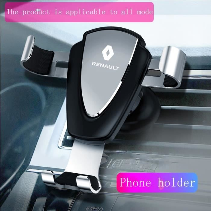 Supports voiture,Support de tableau de bord et cellule de support pour véhicule, pour Renault Captur Duster Megane 2 3 Clio Kadjar