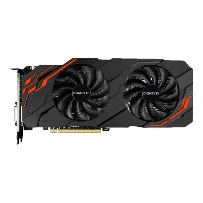 GIGABYTE Carte Graphique GTX 1070 Ti WindForce 8 Go  (GV-N107TWF2-8GD)