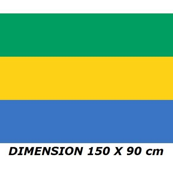 DRAPEAU 150 X 90 cm GABON GABONAIS FLAG No maillot écharpe fanion casquette ...