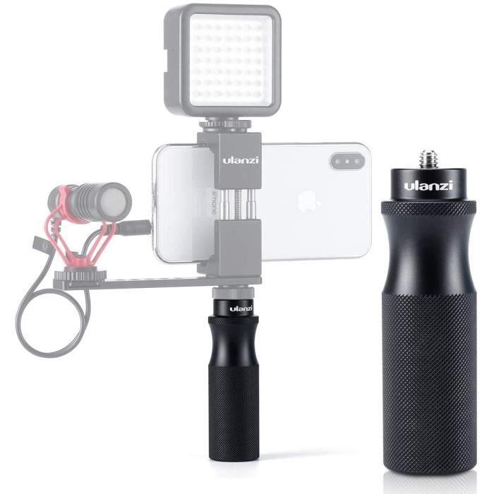 ULANZI U-40 Caméra métal Poignée à main portatif Vlog Poignée Stabilisateur de 1/4- à vis de trépied