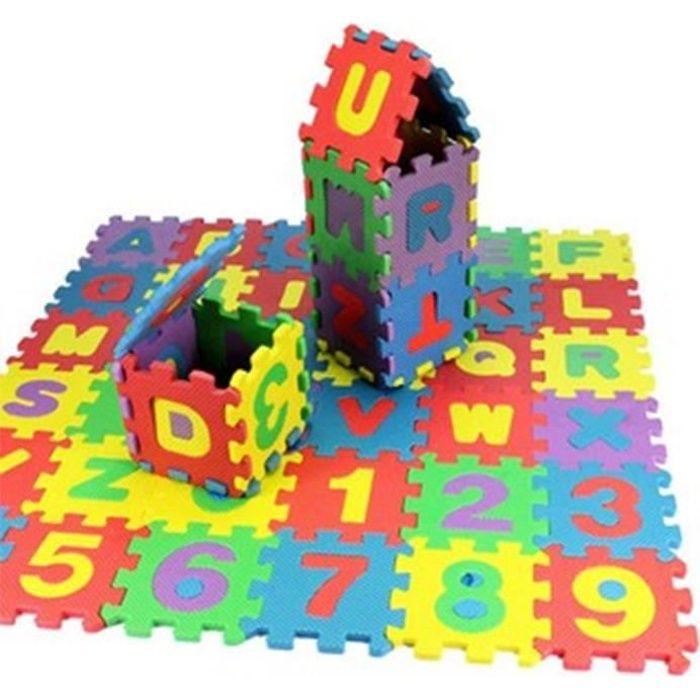 Magideal 72pcs Puzzle Mousse EVA Alphabet - Chiffre Tapis de Jeu pour Enfants -Cadeau Pour Enfants - 5*5cm