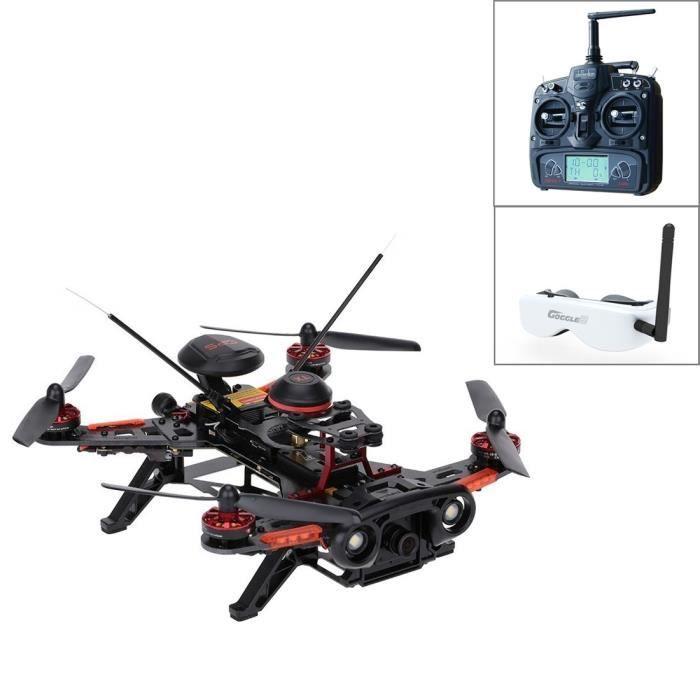 Drone rc, Walkera 2.4GHz Runner 250 Advance Télécommande avec 800TVL Caméra & GPS & OSD & DEVO 7 + Casque VR