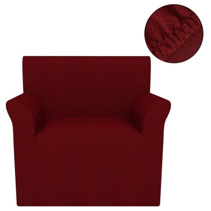 FAUTEUIL LIU Housse extensible de fauteuil Bordeaux Piqué