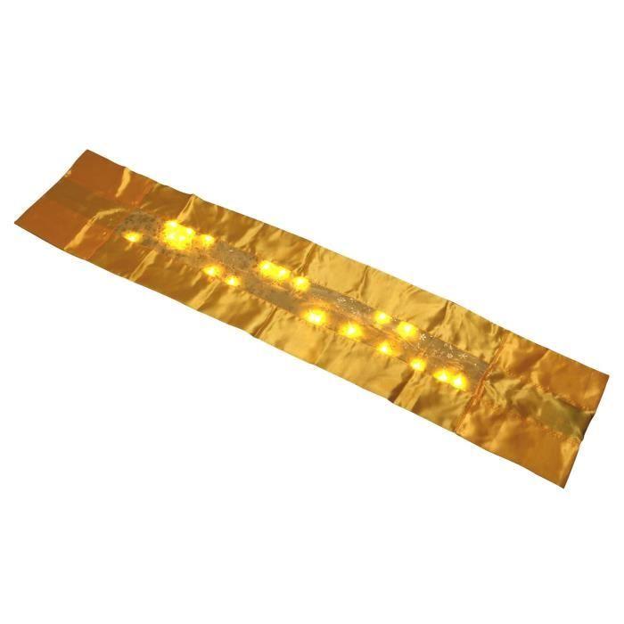 CHEMIN DE TABLE Chemin de table lumineux 25 LEDs - H 140 x 28 cm -