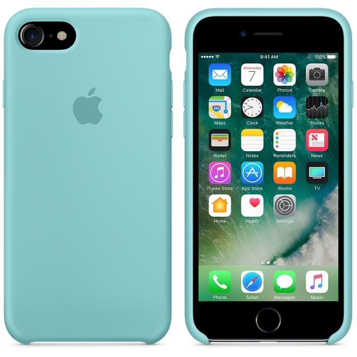 coque silicone iphone 8 bleu