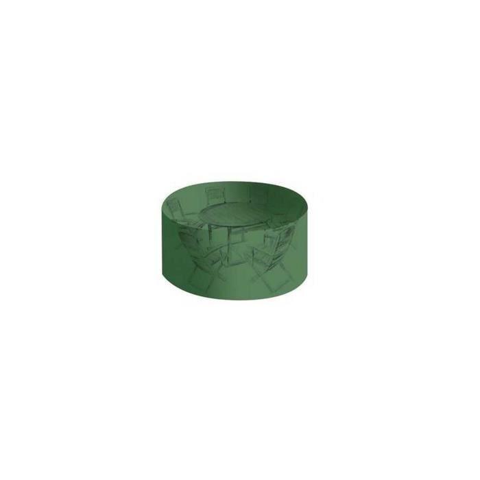 BACHES DIRECT - Housse de protection haute résistance table de jardin ronde  + chaises - Housse salon de jardin - bache jardin