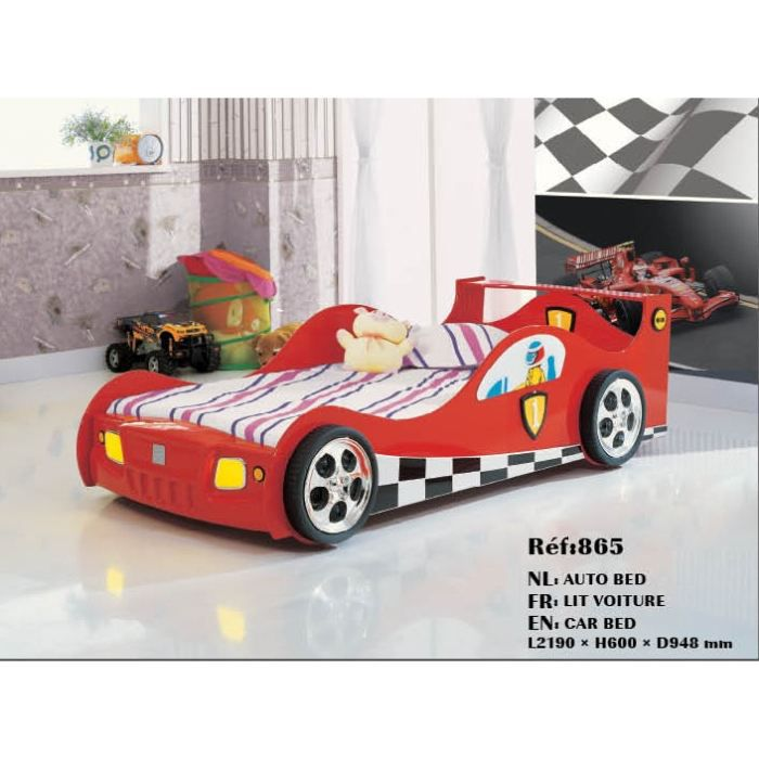 lit enfant pour garcon voiture f1 rouge achat vente. Black Bedroom Furniture Sets. Home Design Ideas