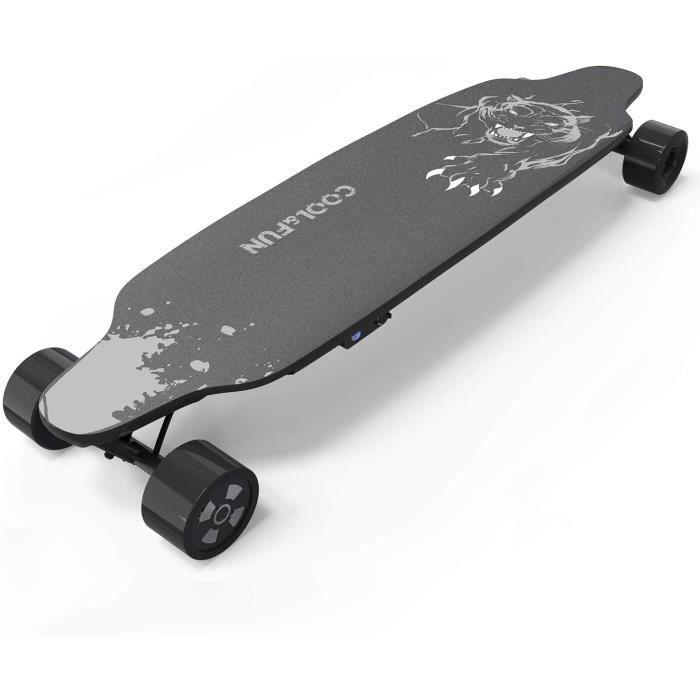 Photo de skateboard-electrique-4-roues-planche-a-roulettes-moteur-400w-batterie-lg