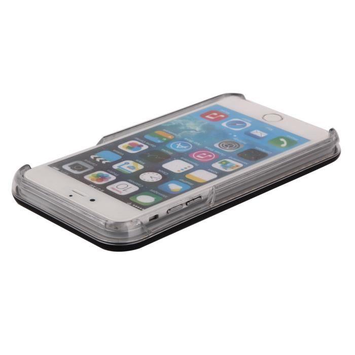 For Apple iPhone 6 - iPhone 6S Coque lumineuse à selfie (Snow ...