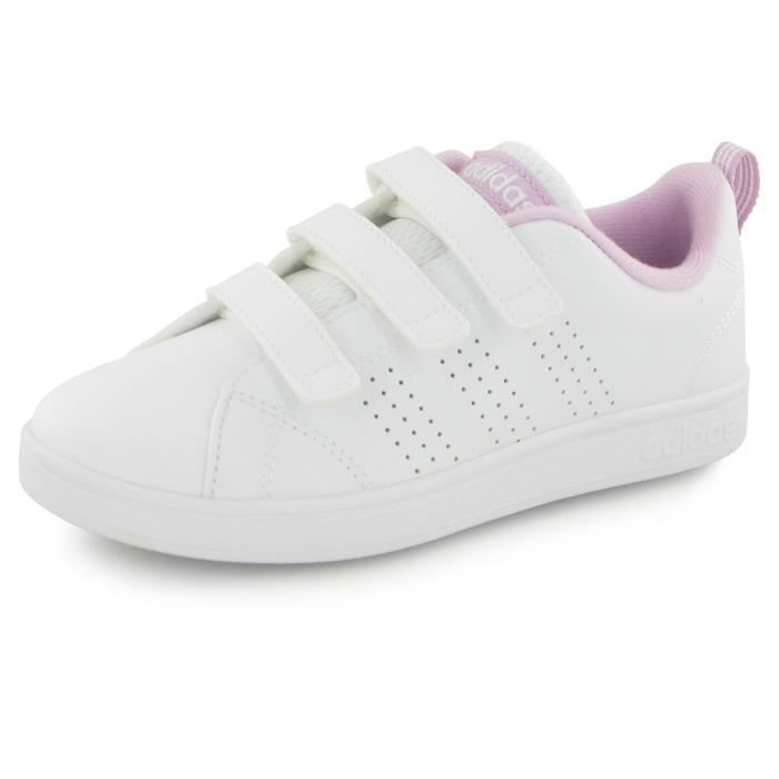 adidas neo advantage clean blanc rose