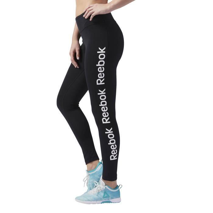 Reebok Legging Workout Ready Pour Femme Noir Achat Vente Pantalon De Sudation Cdiscount