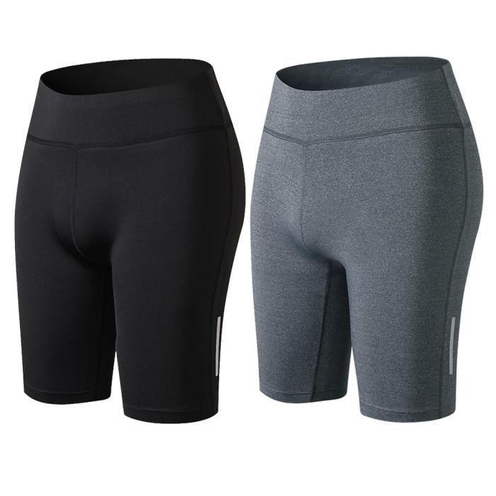 * Femmes 3//4 Leggings Shorts Collants Cyclisme Running Yoga Exercice Entraînement Gym