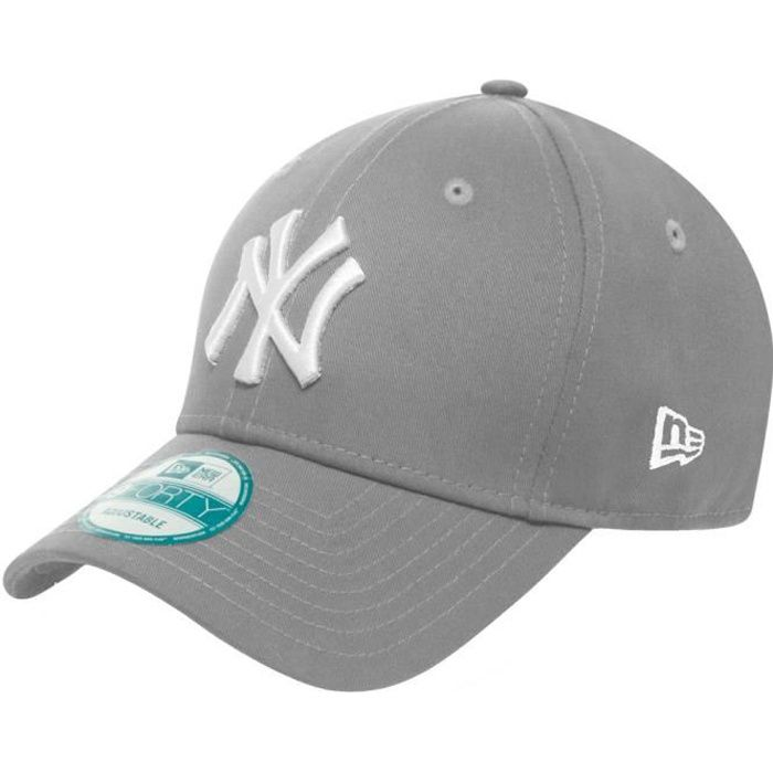 new era 9forty casquette new york yankees gris gris achat vente casquette 0886947030870. Black Bedroom Furniture Sets. Home Design Ideas