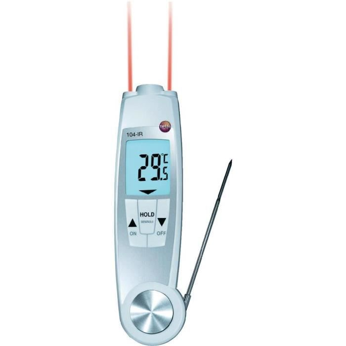 Thermom tre avec sonde infrarouge et d immersio achat for Thermometre infrarouge cuisine