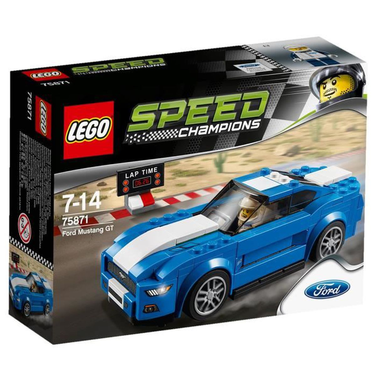 lego speed champions 75871 ford mustang gt achat vente assemblage construction cdiscount. Black Bedroom Furniture Sets. Home Design Ideas