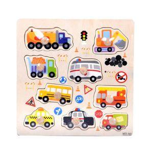 PUZZLE 9 pièces Transport en bois Puzzle apprentissage bé