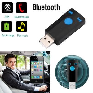 ANTENNE AUTO-MOTO Voiture sans fil Bluetooth Kit audio AUX Récepteur