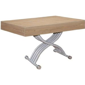 TABLE BASSE Table basse relevable Kubic Chêne clair