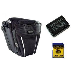 PACK ACCESSOIRES PHOTO Batterie FW50 + 32Go + Housse pour Sony alpha