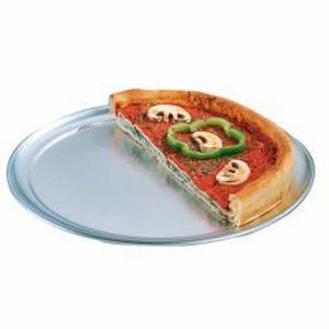 FOUR À PIZZA Assiettes à pizza plates ø 28 cm argente aluminium