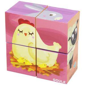 PUZZLE Goula - 53417 - Jeu Educatif - 4 Cubes - Animaux D