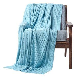 JETÉE DE LIT - BOUTIS Jeté de canapé Bleu pastel 150 x 200 cm