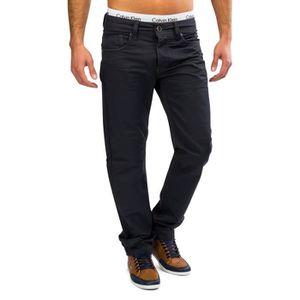 JEANS Hommes Coated Denim Blue Jeans Pantalons pantalon