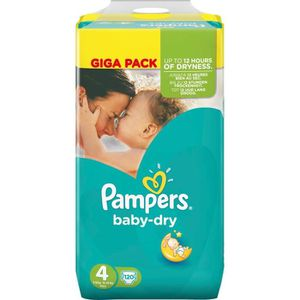 COUCHE PAMPERS BABY DRY Couches Bébé Taille 4 - 9 à 14 kg