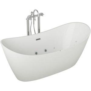 BAIGNOIRE - KIT BALNEO Baignoire hydromassante - 180x90x72cm - Design bla