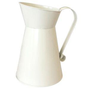 VASE - SOLIFLORE Vintage Haut Minable Crème Chic Vase en Email Cruc