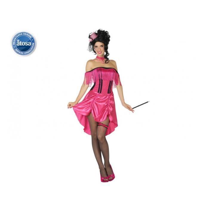 Costume Adulte Femme Cabaret Rose et Noire Taille M/L