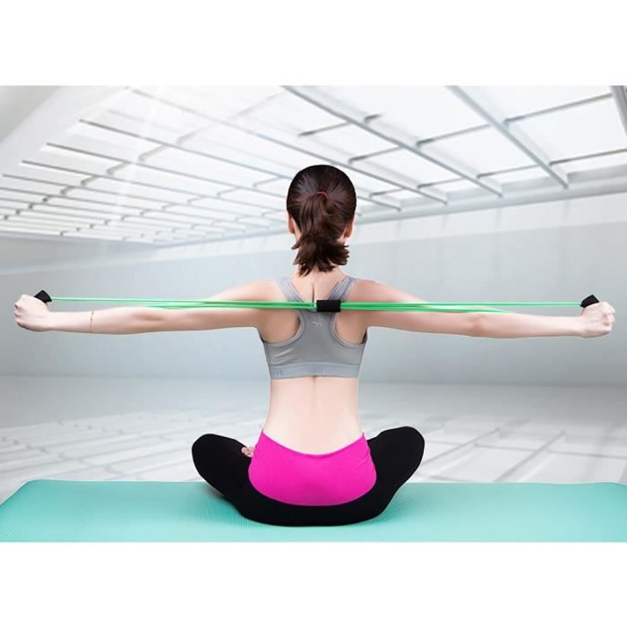 Stretch Band Rope Latex Rubber Arm Resistance Fitness Exercice Pilates Yoga miettelove 4441 yyllyy