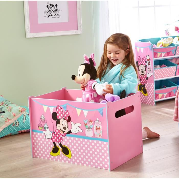 MINNIE Grand Coffre à Jouets en bois Rose - Worlds Apart