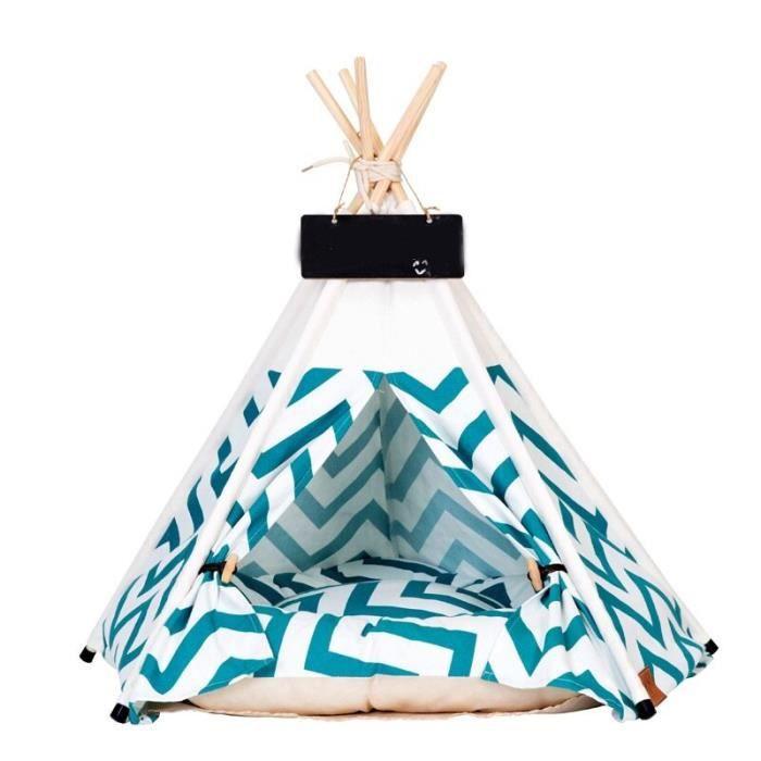 Corbeilles,Tente pour animaux de compagnie maison lit de chat Portable tipi avec coussin épais disponible - Type green-M Only tent