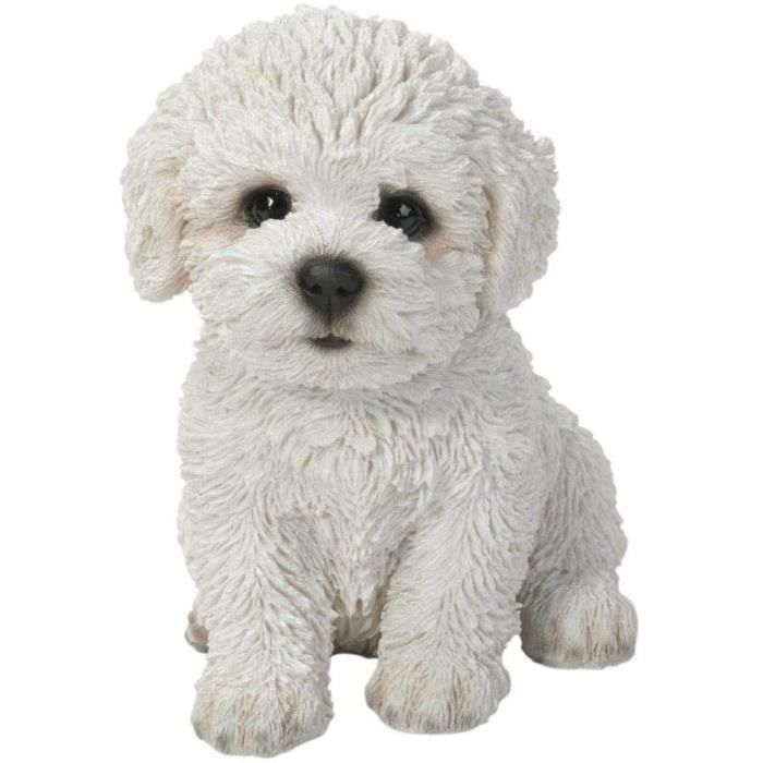 Statue de jardin Vivid Arts bichon puppy sculpture blanc510