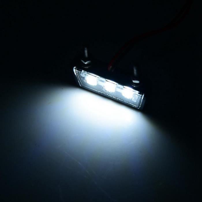 YOSOO Éclairage de Plaque d'Immatriculation à LED 12V Plaque d'Immatriculation de Moto Universelle Lumière LED Blanche Étanche