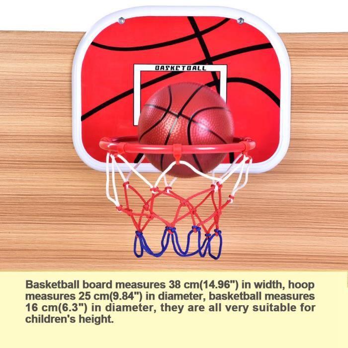 Panier de Basket, Mini Panier de Basketball Ajustable Portable Panier de Basket Panier Stable et Hauteur Réglable avec Ballon et
