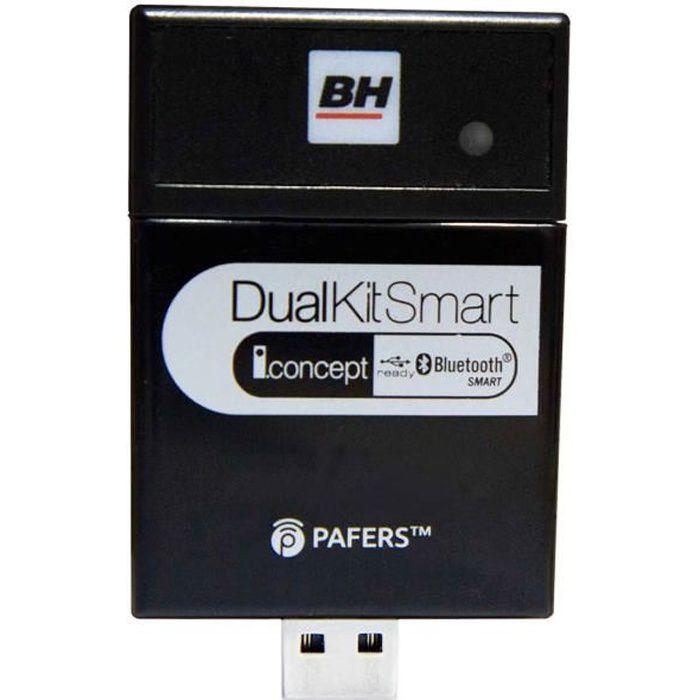 BH Fitness DUAL KIT SMART DI22 Accessoire de connection Bluetooth pour tapis de course, vélo de biking, vélo elliptiques et vélos