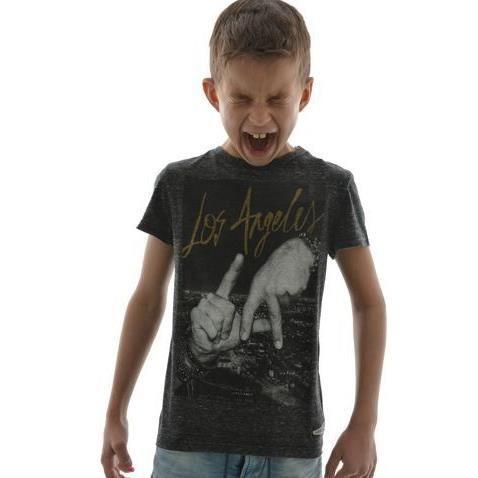 T-shirt Japan Rags lamain noir